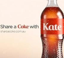 Coca-Cola personnalise ses bouteilles à votre nom