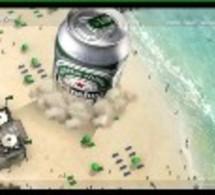 Heineken – invasion de canettes de bière en vue