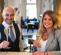 Marco Corallo, nouveau Chef barman de l'Artesian bar, et Anna Sebastian, bar manager