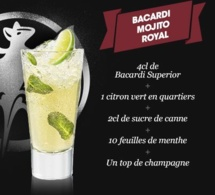 Cocktail Bacardi Mojito Royal