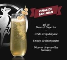 Cocktail Viñas de San Juan par Bacardi