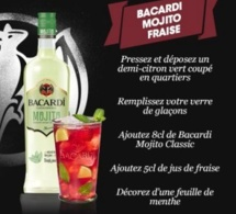 Cocktail Bacardi Mojito Fraise
