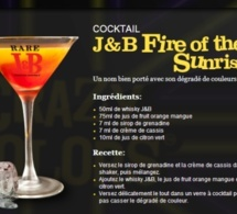 Cocktail J&B Fire of the Sunrise