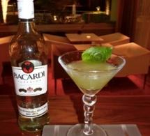 """Cocktail """"Green Bat Bacardi"""" par Vincent Eliot - finaliste de la Bacardi Legacy France 2013"""