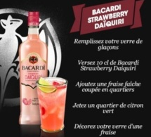 Recette Cocktail Bacardi Strawberry Daïquiri