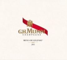 G.H. Mumm et treize grands chefs réunis pour les Menus de Légende® 2013