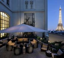 Terrasse d'été au Shangri-La Hotel Paris
