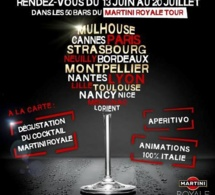 Le Martini Royale Tour 2013 débarque dans 50 bars de France