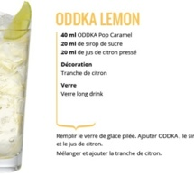 Recette Cocktail ODDKA Lemon