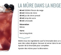 Recette Cocktail La Mûre dans la Neige by ODDKA