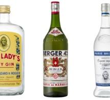 Les bouteilles Marie Brizard, Old Lady's et Pastis Berger en version vintage