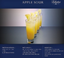 Recette Cocktail Apple Sour by Ballantine's