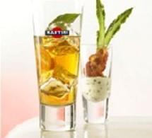 Martini Bianco Pomme + verrines de Ricotta aux Asperges:
