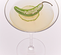 Recette cocktail Jalapeno Martini by Leblon
