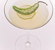 Recette cocktail Jalapeno Martini by Leblon