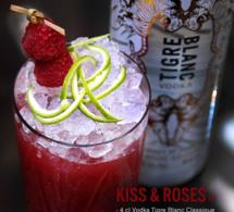 Les cocktails création Tigre Blanc vodka