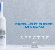"James Bond choisit la vodka Belvedere dans ""Spectre"""