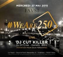 Infosbar présente #WeAre250, la soirée d'anniversaire de Saint James au Faust