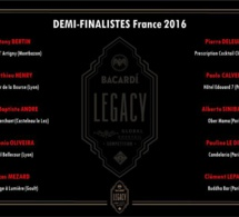 BACARDI Legacy Cocktail Competition 2016 : les 10 demi-finalistes France
