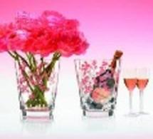 Cuvée Rosé Brut Laurent-Perrier et Seau à Champagne - Vase de Baccarat