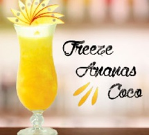 """Cocktail """"Freeze Ananas Coco"""" by MONIN et 1664"""