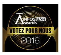 "Sticker Selection Infosbar Awards ""Votez pour nous"""