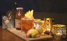 Nouvelle carte de cocktails d'hiver au bar de l'hôtel André Latin