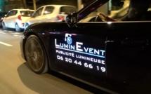 MICS 2014 : la plv lumineuse pour voitures by Lumin Event