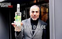 Régis Celabe teste la liqueur d'Aloe Vedrenne à l'hôtel Jules & Jim